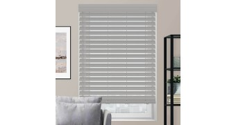 """2 1/2"""" Luxe Modern Faux Wood Blinds"""